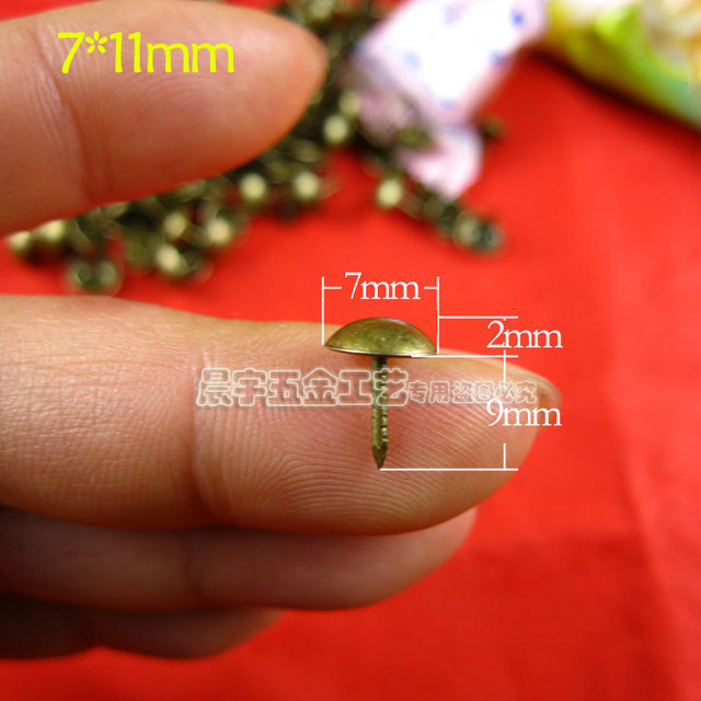 decorative nails for furniture. Wholesale Tacks Upholstery Furniture Decorative Nails Handbag Wooden Decoration Head 500pcs/lot For T