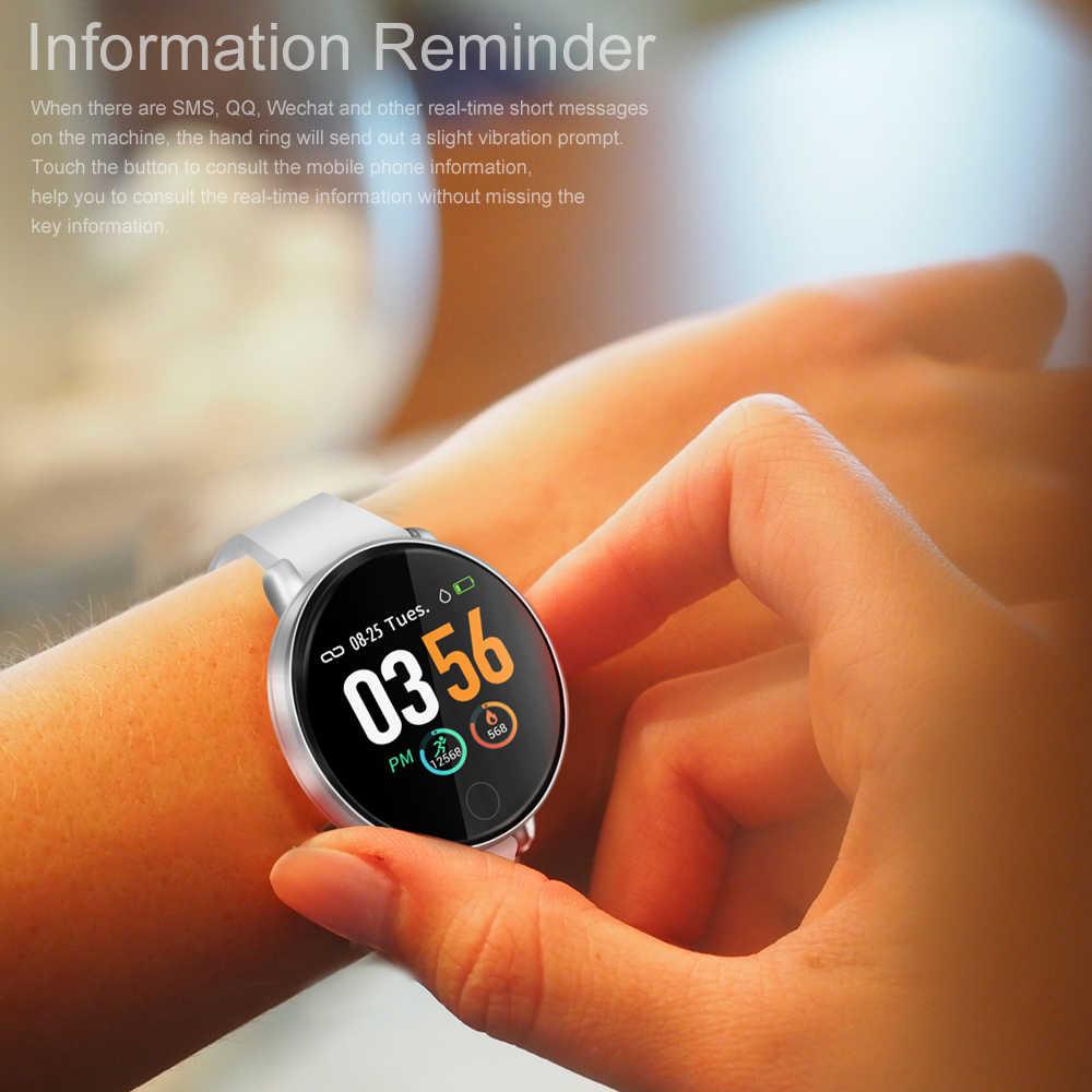 S226D Смарт-часы 1,3 дюймов Фитнес трекер браслет Круглый IP67 Водонепроницаемый сердечного ритма крови Давление спортивные Смарт-часы с мониторингом
