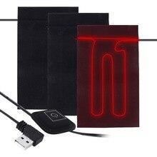 3 шестерни температура регулируемый USB тепловой жилет Отопление ткань три части ткань стирка воды гибкий нагревательный коврик для одежды