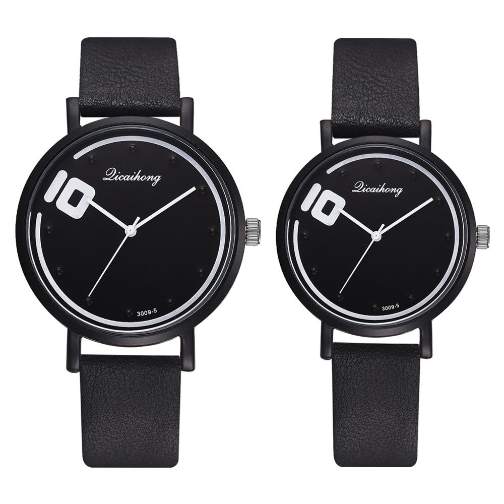 Couple Watches Set 2pcs Fashion Leather Quartz Analog Sports Wrist Watch Casual Women Man Quartz Clock Reloj Mujer Drop Shipping