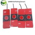 4pcs 16mm Flat Assistance Reversing Radar Rrobe Parking Sensors black blue gray red white silver