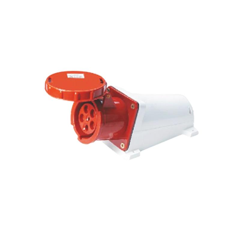 125A 5Pin industrial socket connector SF-145 surface mounted socket cable connector 220-280V/240-415V~3P+N+E waterproof IP67  63a 3pin 220 240v industrial waterproof hidden oblique socket waterproof grade ip67 sf 433