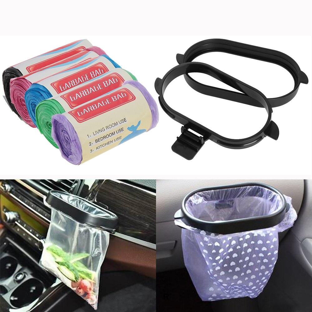 Cubo de basura de coche plegable duradero, contenedor de basura automático, organizador de residuos automático, bolsa de soporte, accesorios de cubo