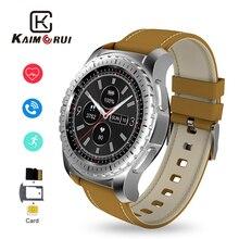 Купить с кэшбэком Kaimorui Smart Watch Men Support Bluetooth Call Heart Rate Pedometer SIM Card Smartwatch for Android IOS Smart Phone Watch