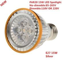 1 шт. с фабрики светодиодный PAR20 лампы E27 15 Вт 5*3 Вт теплый белый/холодный белый/чистый белый 110 в 220 В Диммируемый светодиодный P20 лампы для прожектора