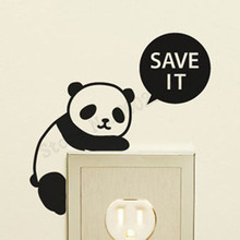 Light Switch Cute Panda Rabbit And Monkey Wall Decoration For Kidsroom Poster Mural Vinyl Art Removeable Decals LY885