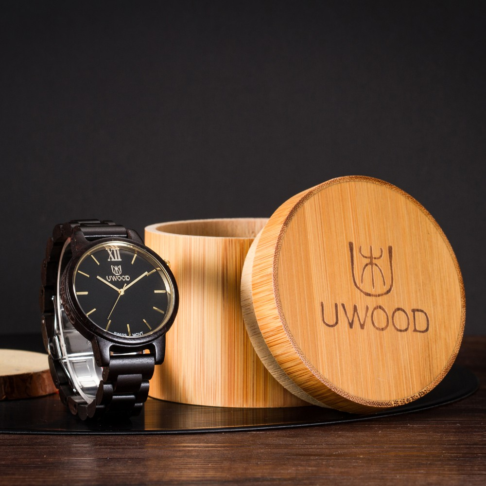Natural Bamboo Wooden Watch Brand new analog men wood watch slim designer 16 Strap Japanese Quartz Movement Casual Watches 2