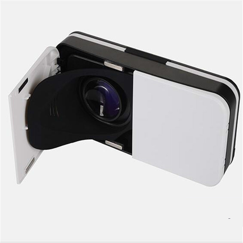 Protable <font><b>VR</b></font> <font><b>Glasses</b></font> Travel Mini Headset Box Leather 3D Cardboard Helmet Comfortable <font><b>VR</b></font> for 4-6' Mobile Phone N30C image
