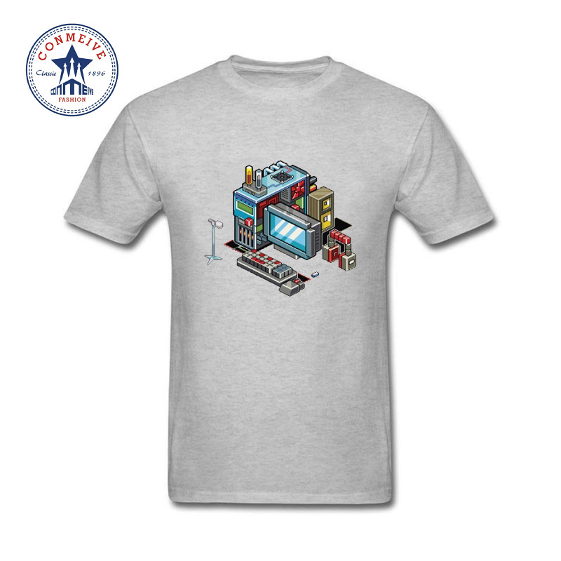 2017 funny hip hop printed funny computer funny t shirt for Silly shirts for men