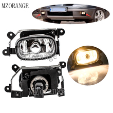 MZORANGE 55W Fog Light Fog Lamp For Mitsubishi Outlander 2003 2004 2005-2007 Fog Lamp Front Bumper Fog Light halogen Bulb 1/2pcs цены