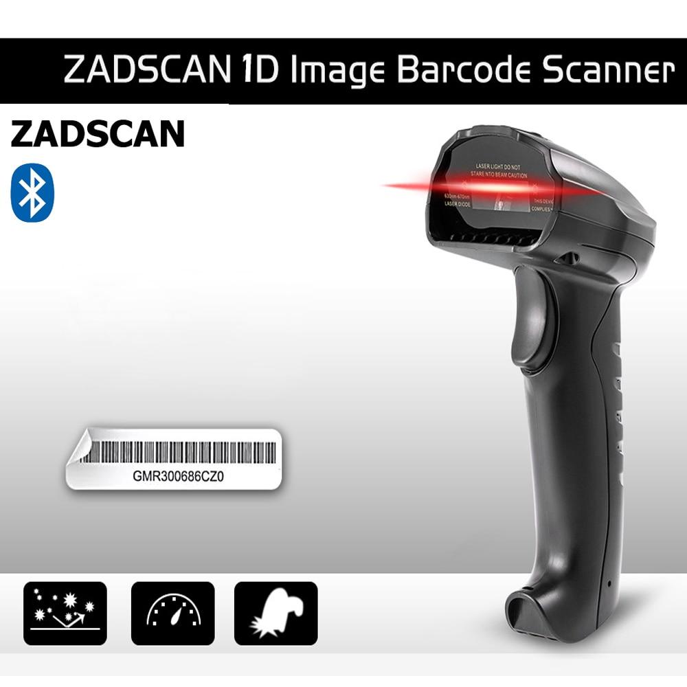 ZADSCAN BP8150BL ברקוד סורק אלחוטי Bluetooth 3.0 + EDR אלחוטי כף יד בר קוד קורא תמיכת Windows אנדרואיד IOS 750 mah