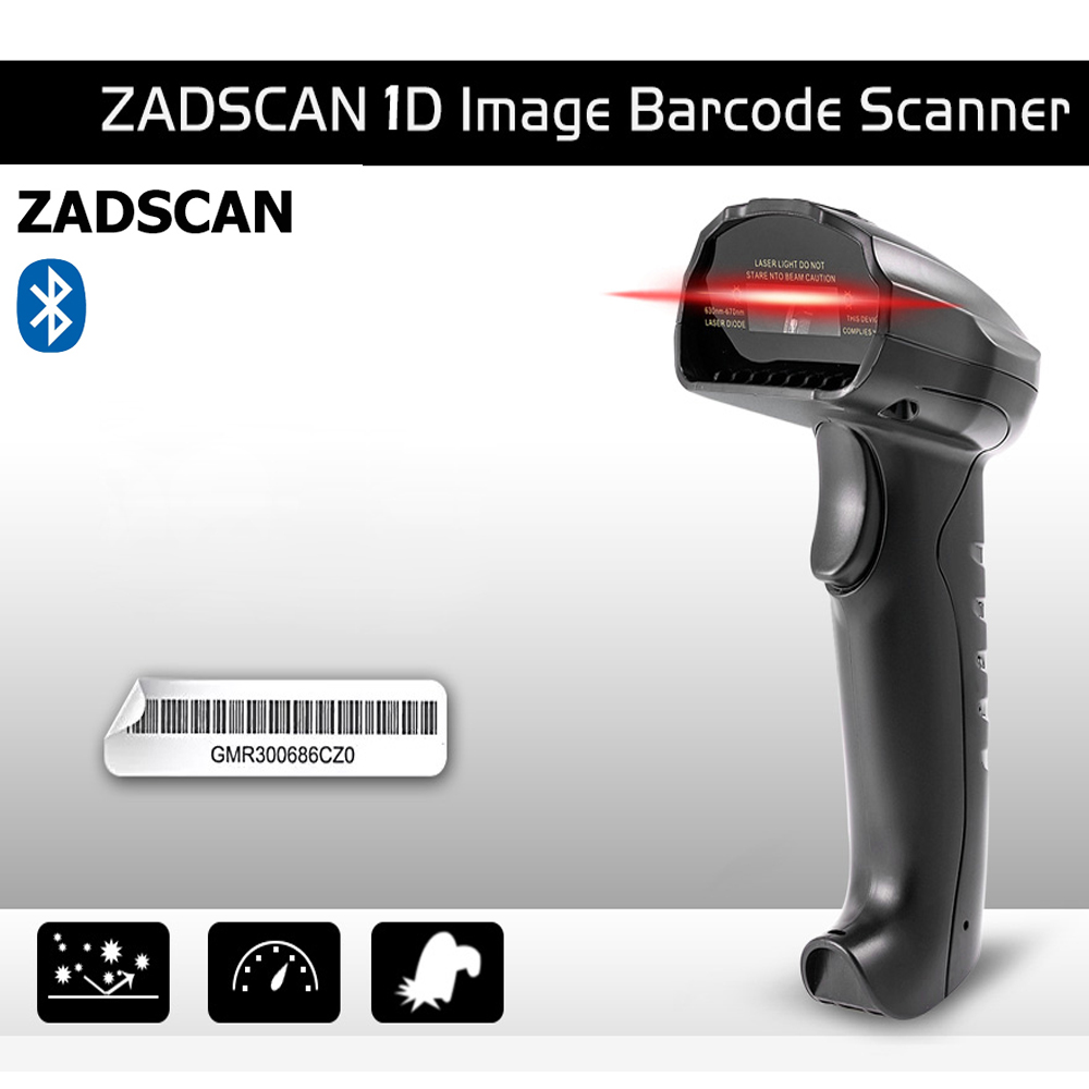 ZADSCAN BP8150BL Barcode Scanner Wireless Bluetooth 3.0+EDR Wireless Handheld Bar Code Reader Support Windows Android IOS 750mAh wireless barcode scanner bar code reader 2 4g 10m laser barcode scanner wireless wired for windows ce blueskysea free shipping