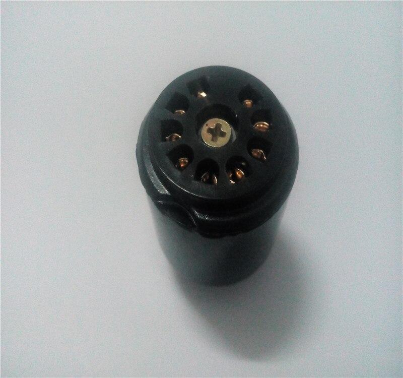 4 pcs Bakélite tube socket TS-9-G 9 broches prise d'or Broches pour amplificateur conseil 12AX7/6DJ8/ECC82/ 6922