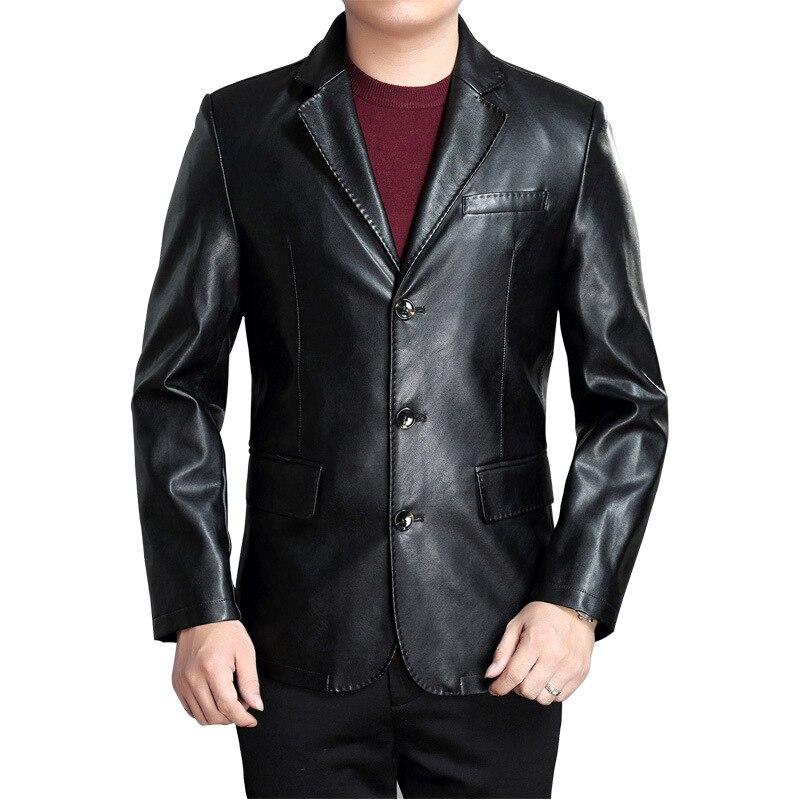 bab33b0431df Parti Vestes Robe Nouveau Men Cuir Casual Faux Mariage Hommes Homme Leather  Slim Costume En Moto ...