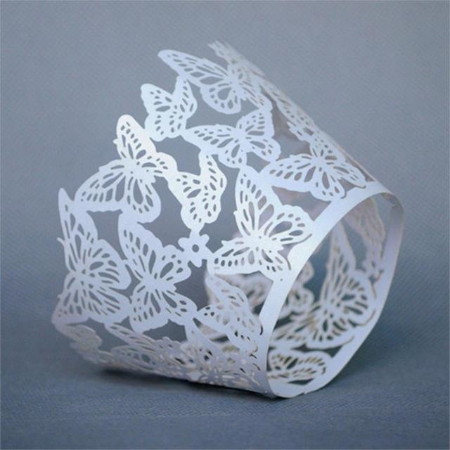 Butterfly Design Wedding Cupcake Wrappers