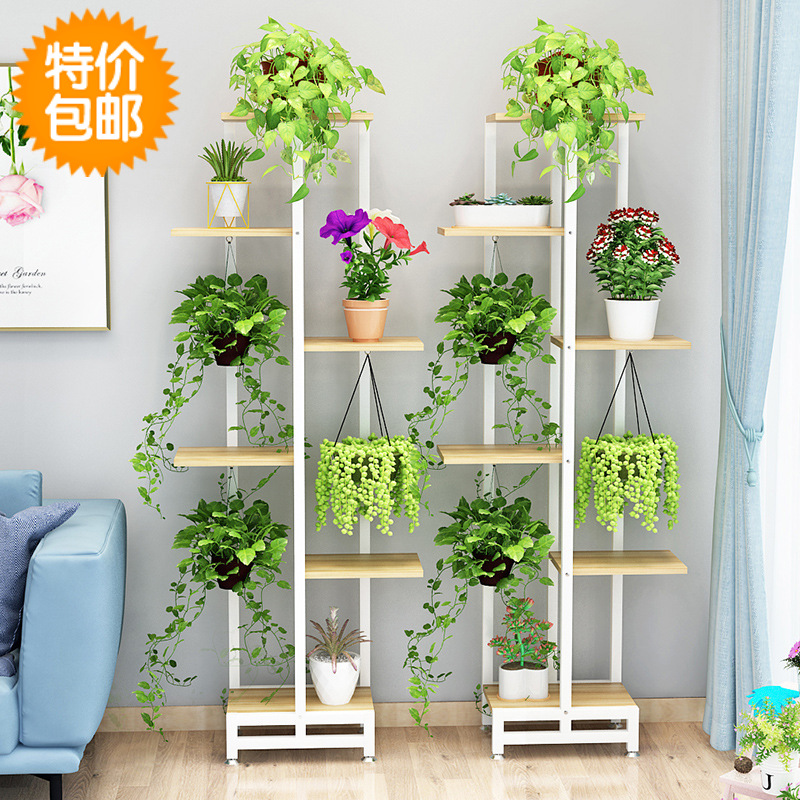 Flower Stand Planter Plants Shelves Outdoor Metal Shelf Ladder Shelf Plant Stand Indoor Iron Metal Garden Rack For Flower Pot