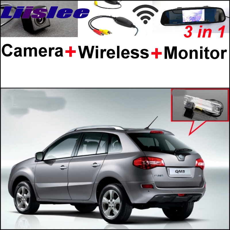 For Renault Samsung QM5 3 in1 Special Rear View Camera + Wireless Receiver + Mirror Monitor Easy DIY Back Up Parking System liislee for renault samsung qm5 3 in1 special rear view camera wireless receiver mirror monitor easy back parking system