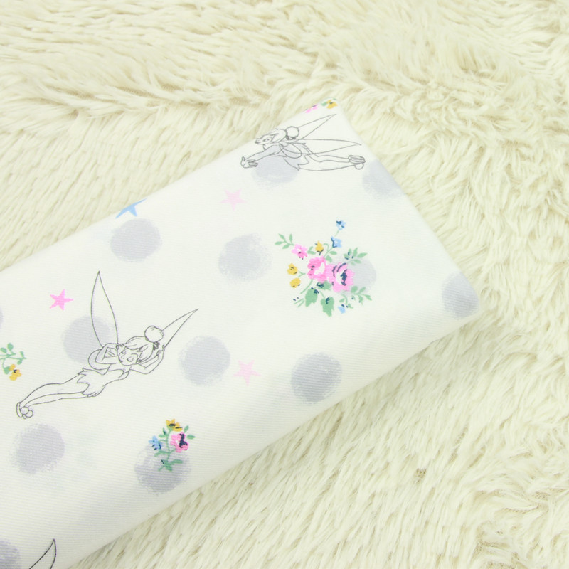 0.5 Meter Japanese Oriental Metallic Gold Butterflies Fabric Cotton for Quilting Craft
