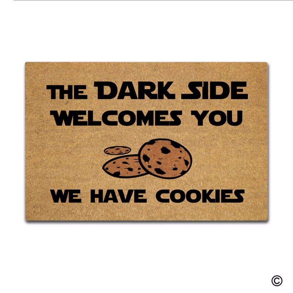 Entrance Floor Mat The Dark Side Welcomes front door mat mats outdoor entrance indoor funny doormat for