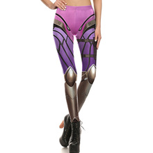 1640 Fitness Elastic Women Leggings Sexy Girl Polyester Slim Fit Workout Pants Trousers Blizzard Game OW Widowmaker Hero Printed
