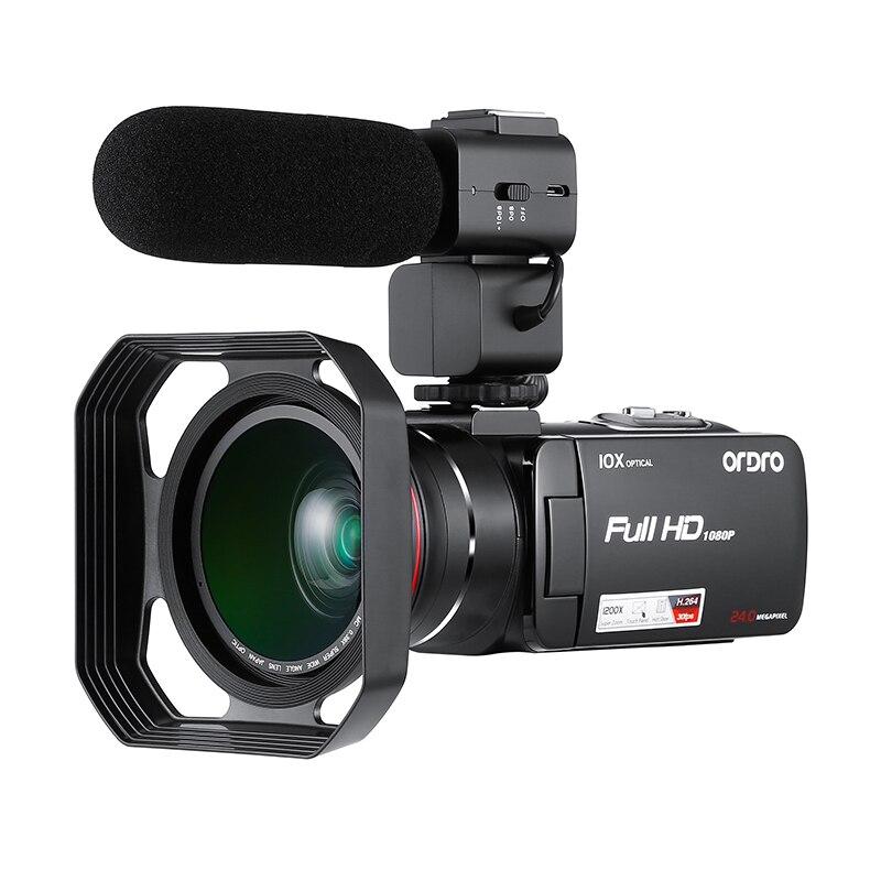 HDV-Z82 Full HD Numérique Caméra 3.0 pouce TFT LCD Tactile Écran Professionnel Caméscope Télécommande 10X Image Vidéo Caméra