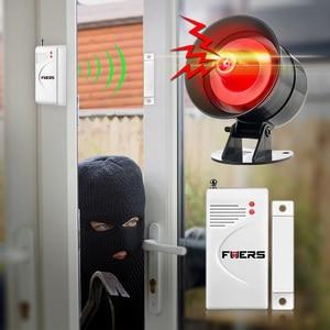 Image 3 - Fuers DIY Wireless 110db Loud Security Siren Rapid Code Strobe Siren Alarm Sound Flash Alarm System For Home Burglar Security