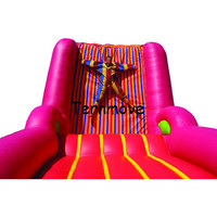 inflatable jumping sticky wall,commercial carnival party adults and kids Inflatable wall with suits for play games