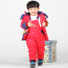 Winter Baby Down Coat Kids Parka Children Warm Jackets Infantil Roupas Snowsuit Girls Boys Outerwear Coat+Pant Clothing Set 2-4Y