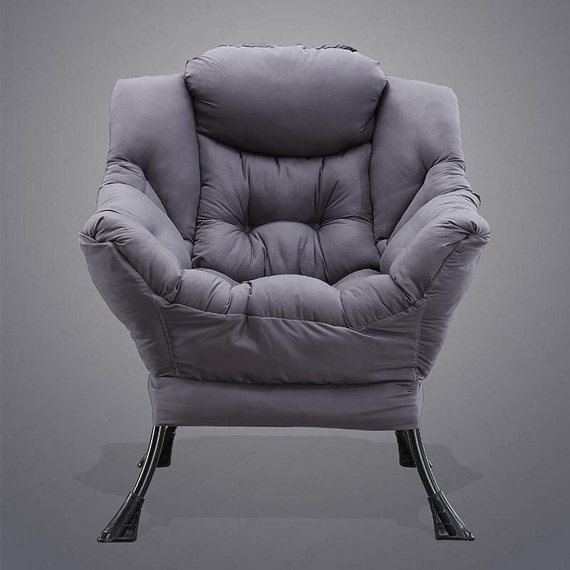 Purple Leaf Lazy Couch Chair Modern Minimalist Bedroom Small Sofa Chair Dormitory Single Sofa Balcony Lazy Chair