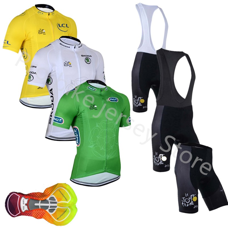 Tour de France cycling jersey set summer short sleeve Racing Mountain MTB  Pro team Breathable cycling 8334f93c7
