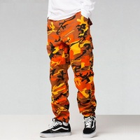 ICPANS Pants Loose Casual Camouflage Full Length Cotton Pockets Pants Men Cargo Pants Men Joggers Tactical