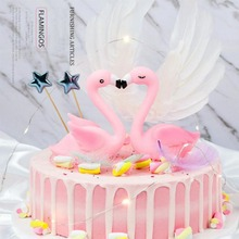 1pcs Flamingo Cake Decoration Tools Wedding Topper light Birthday Party Kids Baby Shower Supplies