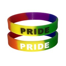 Mode Siliconen Rainbow Pride Armband Rubber Lesbische Gay LGBTQ Rainbow Pride Awareness Armband Sieraden(China)