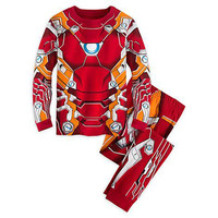 2 7Y Brand The Avengers Girls Boys Pajamas Kids Clothes Sets Pyjamas Cartoon Baby Sleepwear Costume