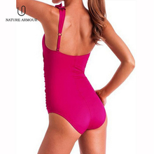 NATURE ARMOUR swimwear woman 2018 sexy Ruffled one-shoulder swimsuit fused triangle Swimming pool beach one piece swimsuit