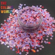 TCT-063, День Святого Валентина, 12 различных цветов, сердце, блеск для дизайна ногтей, украшение для макияжа, украшение на День святого Валентина