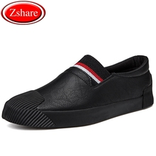 2018 Fashion Mens Shoes Man loafers Walking Shoes Black Autumn New arrival Male Casual Shoes Men Leather Shoes For Men Flats цены онлайн
