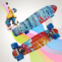 22″ Retro Cruiser peny board printed mini skateboard skate scooter skateboarding board 4 wheel skates longboard truck skate CL19