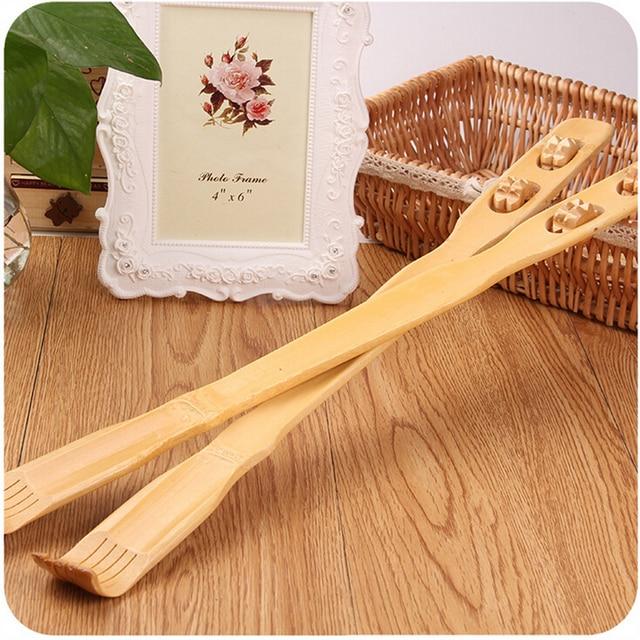 Natural Wooden Bamboo Body Massage Back Scratcher For Men -1571