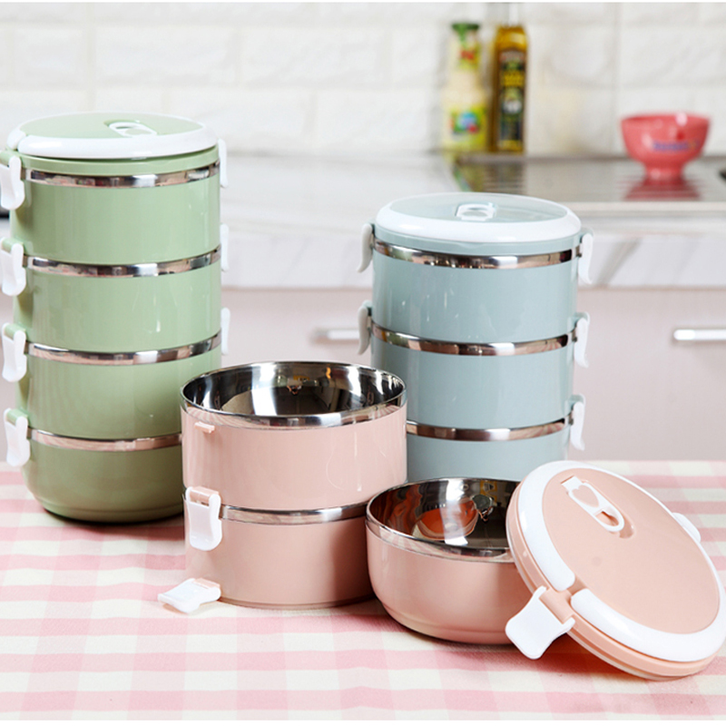 1~3 pcs/set Portable Camping Stainless Bowls Spill Proof Bowl Rice Noodles Soup Fruits Salads Bowl Food Container Lunch Box