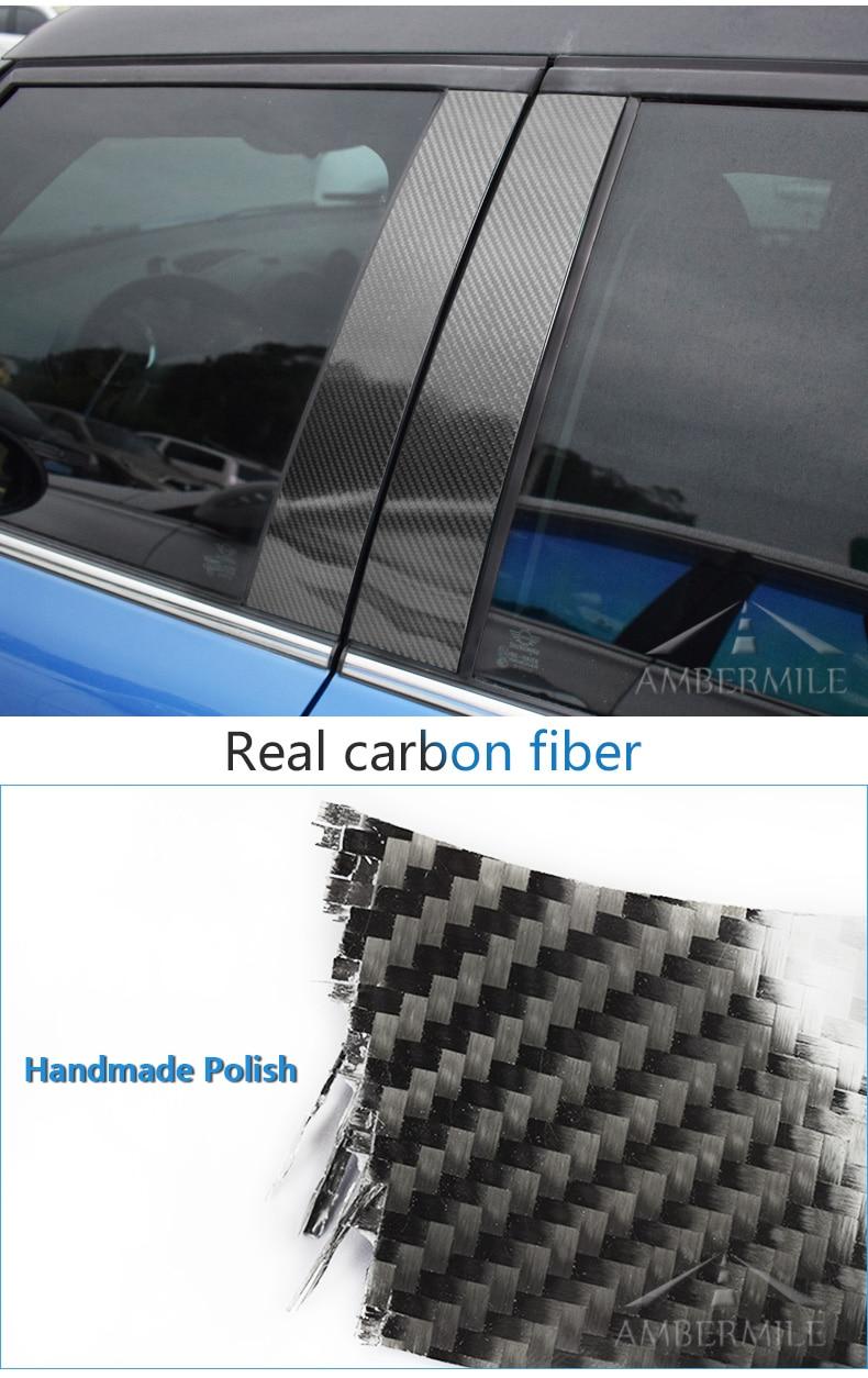 Mini Cooper F55 Countryman F60 Clubman F54 Accessories Carbon Fiber B Pillar Cover Trim Window Protection Stickers (8)
