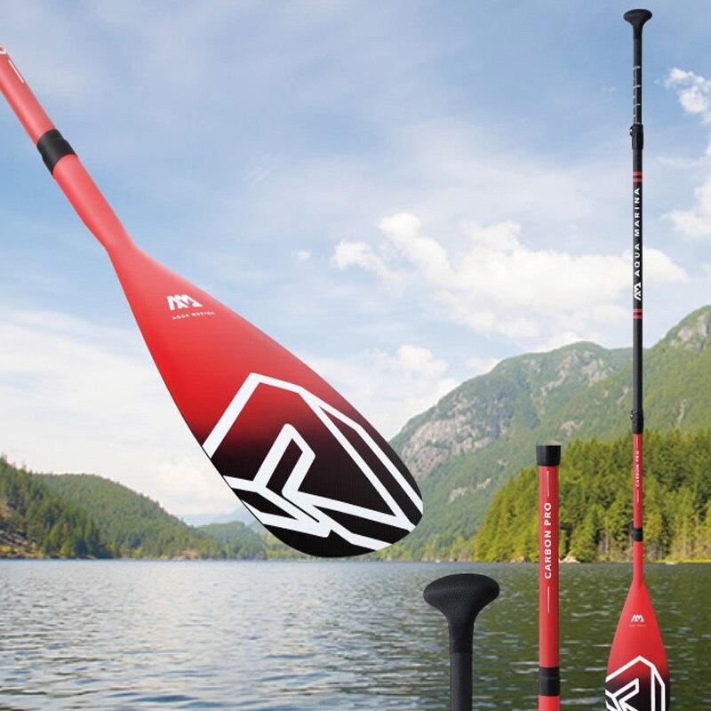 Mise à niveau de la palette de SUP carbone Pro noir rouge Stand Up Paddle Board pagaie de course professionnelle pagaie de Kayak B0302771