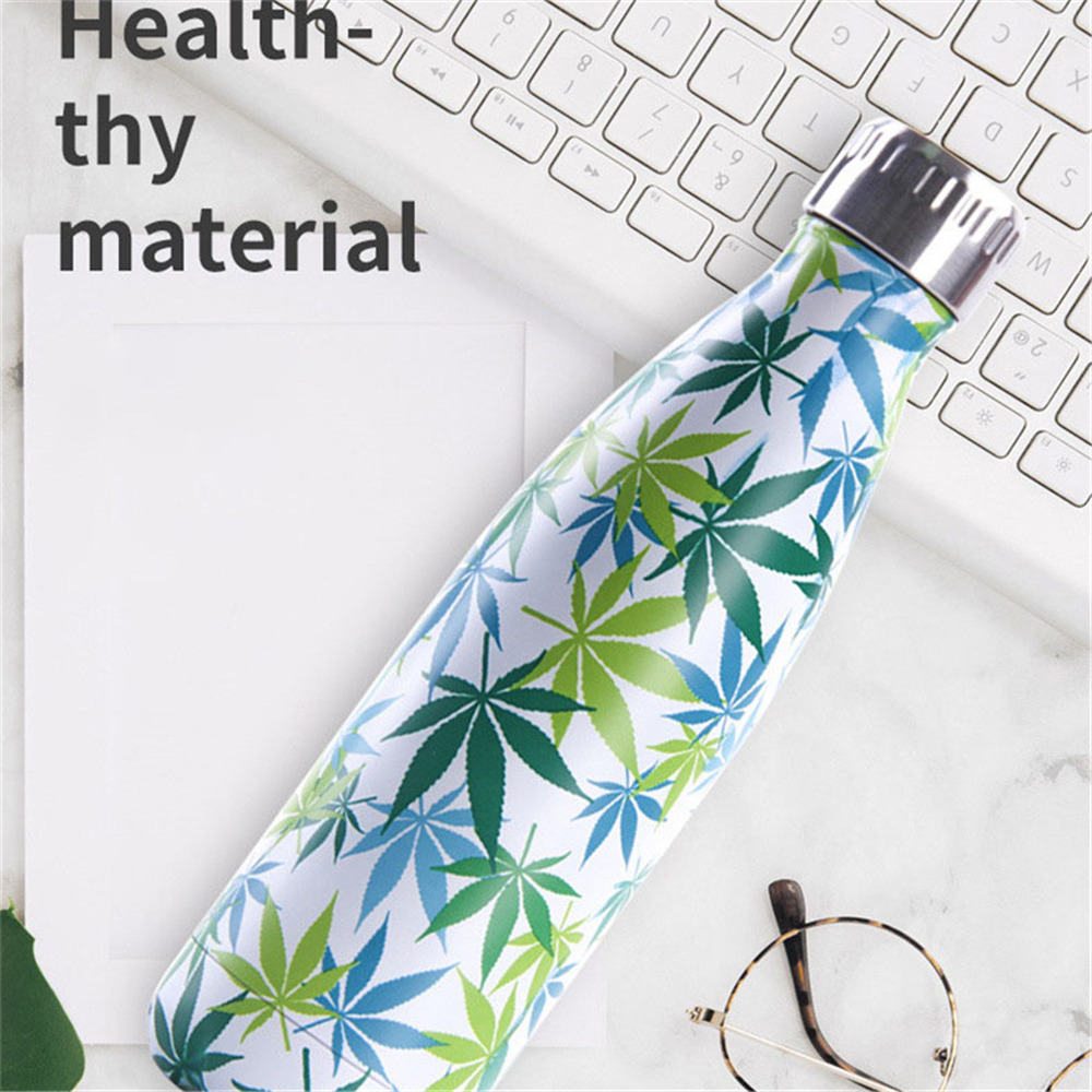 500ml Creative Water Bottle BPA Free Stainless Steel Thermos Bottle Tea Coffee Portable Outdoor Exercise Bike Vacuum Flask in Vacuum Flasks Thermoses from Home Garden