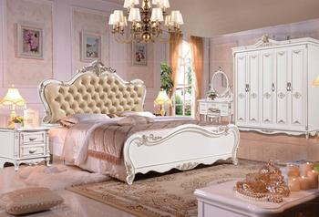 modern european solid wood bed Fashion Carved  1.8 m bed  french bedroom  furniture DNS801