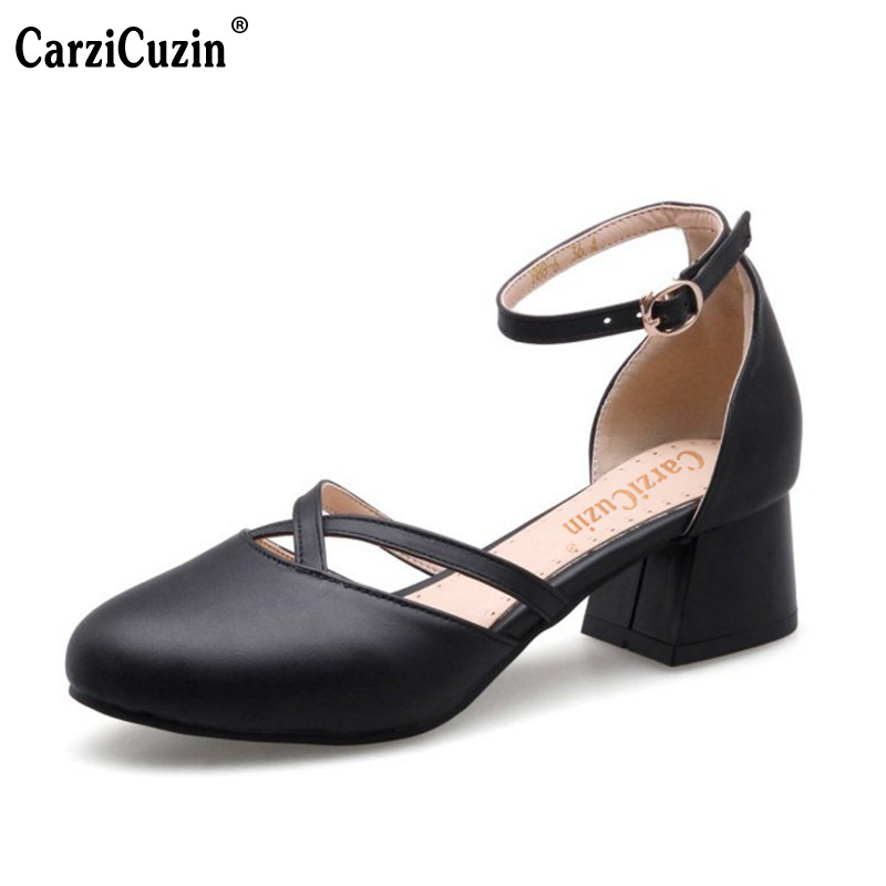 CarziCuzin Women Block Heel Sandals Shoes