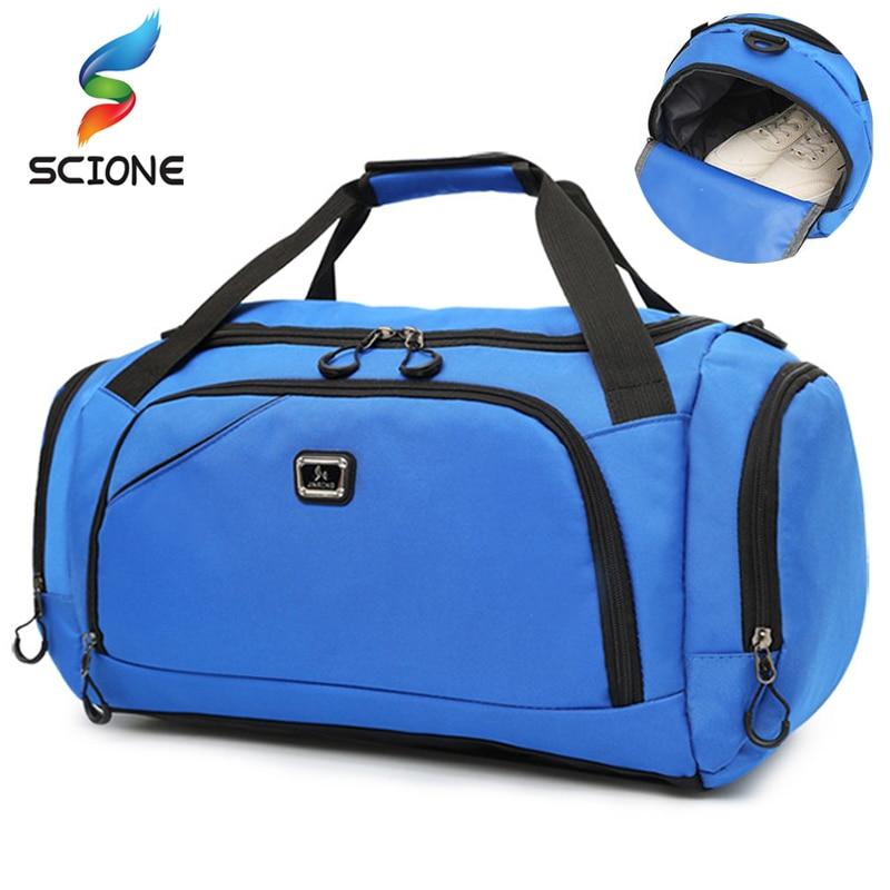 Outdoor Waterproof Men Sports Gym Bag New Leisure Yoga Fitness Shoulder Bag Women Travel Handbag Training Portable Duffle Bags