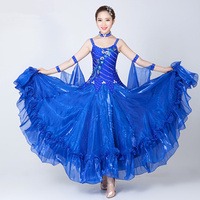2017 New ballroom dance competition dresses standard ballroom dress ladies Diamond embroidery waltz ballroom dresses women