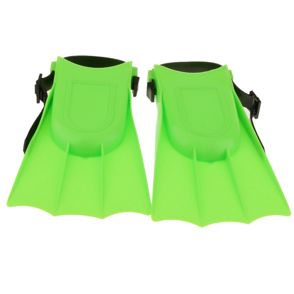 Kids Adults Adjustable Fins Swimming Diving Swimming Fins - Green, S: 25-30