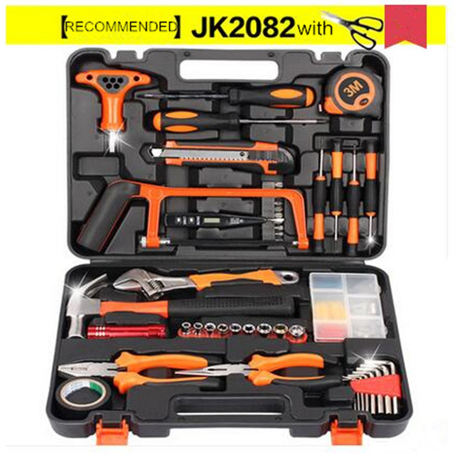 82pcs Practical Toolbox Electrician Metal Toolbox Household Hardware ...