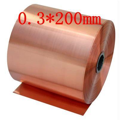 0.3*200mm 0.5 meter High quality copper strip, sheet skin red copper,Purple copper foil,Copper plate